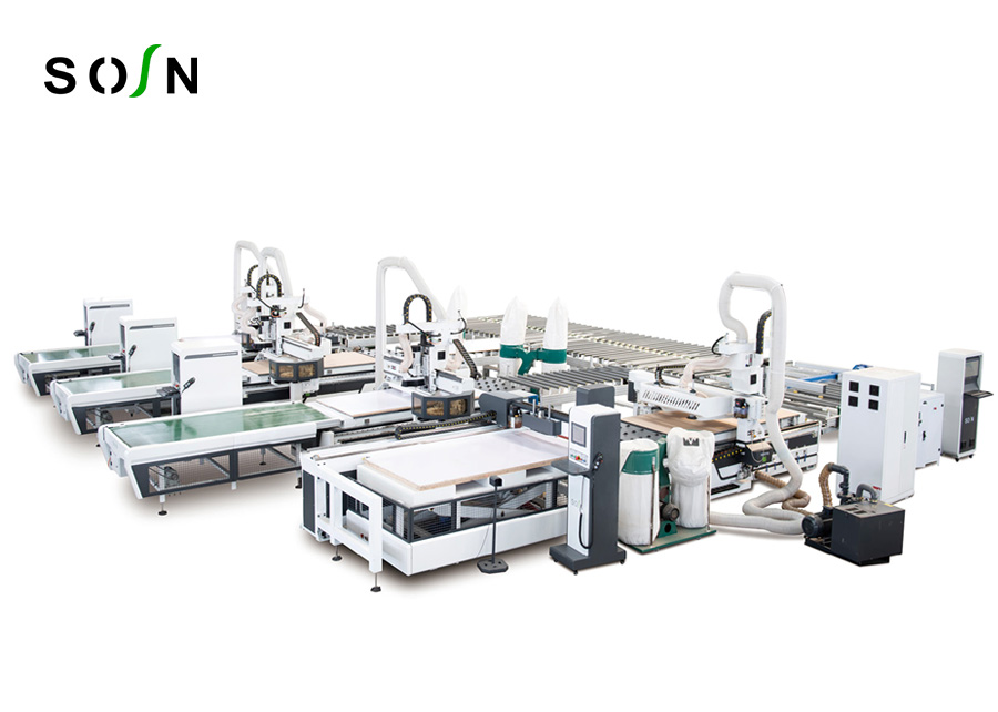 One plus three production line for cabinet Machine